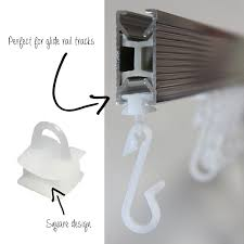 ecospa 48 x replacement shower curtain hooks fits glider rail