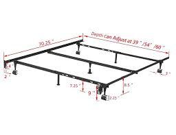 adjustable center leg bed frame support large size of bed frames