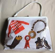 Kentucky Travel Handbags images Vintage horse race theme handbag purse kentucky derby 1950s 1960s jpg