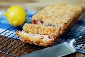 lemon cranberry french yogurt cake snack fixation