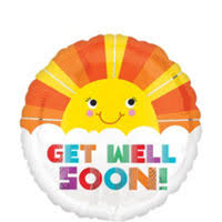get well soon balloons get well balloons party city