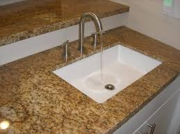 White Undermount Kitchen Sink Corner Square Undermount Kitchen Sink Under Brown Stucco Wall