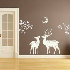 compare prices on antler wall art online shopping buy low price antlers wall decal sticker branches wall decal with moon jungle safari vinyl wall art sticker