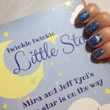 twinkle twinkle baby shower nails newsie nail novice