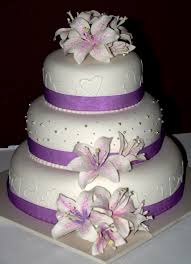 simple wedding cake decorations purple wedding cakes ideas