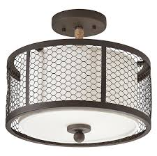 Kichler Lighting Lights Kichler Lighting 2 Light Olde Bronze With Wrapped Rope Accent Mesh