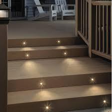 Deck Lighting LED Step Lights Hooded Rectangular Deck  Step - Home depot deck lighting