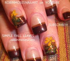 autumn nails on a basic french manicure robin moses nail