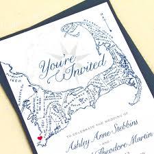 cape cod wedding invitations cape cod map invitations with