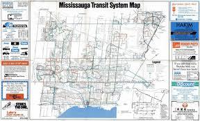 Bus Map Mississauga Bus Map Mississauga Bus Route Map Ontario Canada