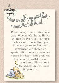baby shower book instead of card poem classic baby shower book poem insert card baby showers