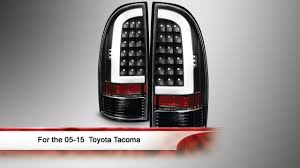 2016 toyota tacoma tail light 05 15 toyota tacoma light bar led tail lights youtube