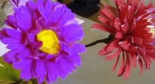 how to make paper flowers chrysanthemum mum flower 17 youtube