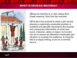 ex machina meaning literary term deus ex machina