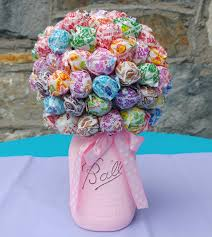 Lollipop Topiary Lollipop Bouquet Made With A Styrofoam Ball Dum Dums And A