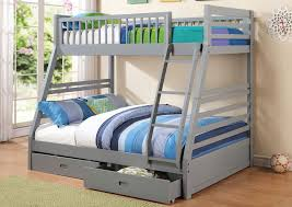 Grey FullTwin Bunk Bed SS Furniture Inc - Full and twin bunk bed