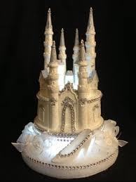 castle cake topper fairy tale cinderella castle slipper wedding quinceñera cake