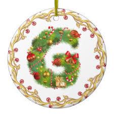 initial g ornaments keepsake ornaments zazzle