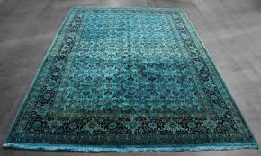 Rug 7x10 7x10 Over Dyed Teal Vintage Persian Rug Woh 2642 West Of Hudson