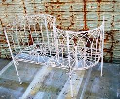 Courting Bench For Sale Wrought Iron Small Woven Child U0027s Courting Bench