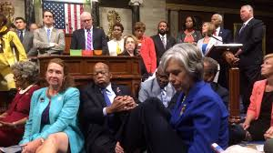 demanding action on gun control house democrats stage sit in