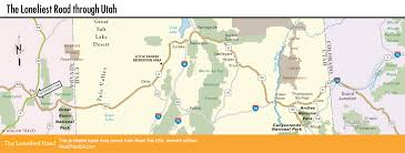 Utah National Park Map by The Loneliest Road Through Utah Road Trip Usa
