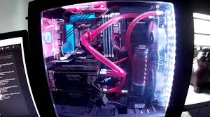 purple led lights for computers nzxt s340 custom watercooled led lights youtube