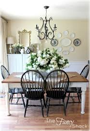 white dining table black chairs the fancy shack dining room reveal