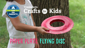 paper plate flying disc crafts for kids pbs parents youtube