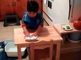 the montessori table washing work at trillium montessori preschool