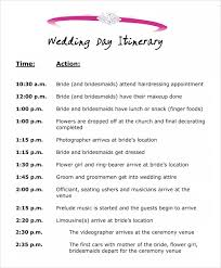 Wedding Reception Programs Wedding Itinerary Template Excel Finding Wedding Ideas