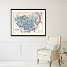 Korean Wallpaper Home Decor China Japan Korea Vintage Antique Map Wall Art Bedroom Home Decor