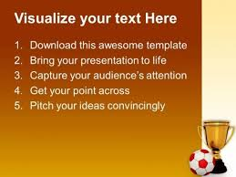 trophy with a football competition powerpoint templates and
