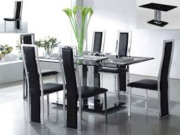Glass Dining Table Chairs Contemporary Glass Dining Table Sets Best Contemporary Dining
