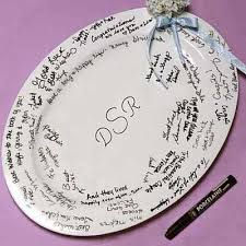 guest book platters wedding favors bridal shower favors favor idea
