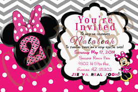 minnie mouse invitations minnie mouse 2nd birthday invitations