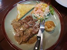 cuisine steak สเต กหม ส นนอกซอสเห ด69 69 บาทได หม ขนาดน เคร องเค ยงก อ ม
