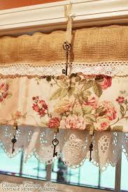 Bird Lace Curtains Creative Country Mom U0027s Sewing Burlap And Lace Curtains