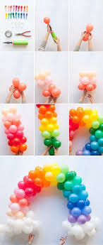 how to make a balloon arch mini rainbow balloon arch diy for any party unicorn