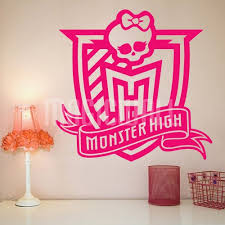 Monster High Bedroom Decorations Buy Monster High Wall Murals Top Surfboard Wall Stickers Uk