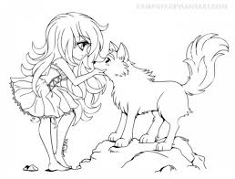 free printable anime wolf coloring pages 67318