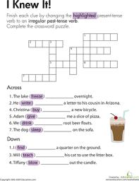 irregular preterite worksheet worksheets