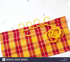 Plaid Curtain Material Up Of Yellow Plaid Curtain Fabric With Eyelets With