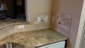 Backsplash With Venetian Gold Granite - tile backsplash charlotte 3 x 6 travertine tile
