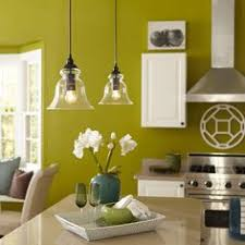 Glass Pendant Lights For Kitchen Island Shop Allen Roth 6 In W Brushed Nickel Mini Pendant Light With