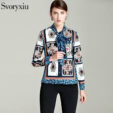 scarf blouse aliexpress com buy svoryxiu high quality autumn blouse