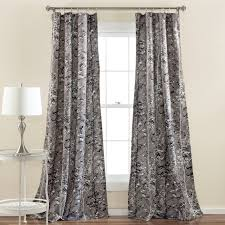 Blackout Window Curtains Half Moon Botanical Garden Window Curtain Panel Set Hayneedle