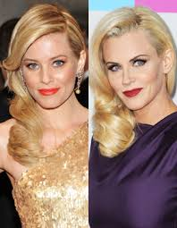 does jenny mccarthy have hair extensions with her bob the retro hairstyle of elizabeth banks and jenny mccarthy smooth