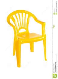 Yellow Chair Yellow Plastic Chair Stock Photo Image 27824770