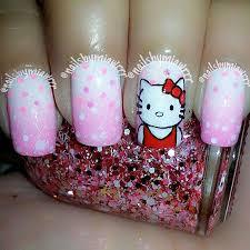 easy hello kitty nail art designs ideas u0026 stickers 2013 2014